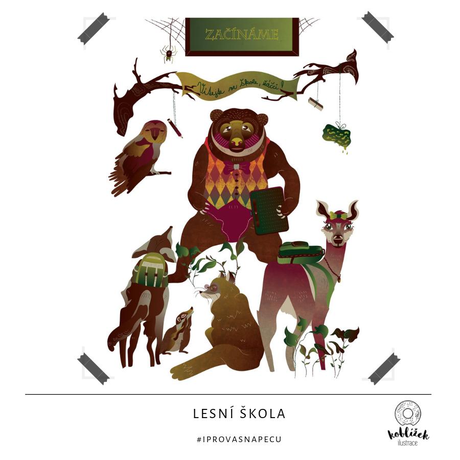 Lesní škola Ilustrace