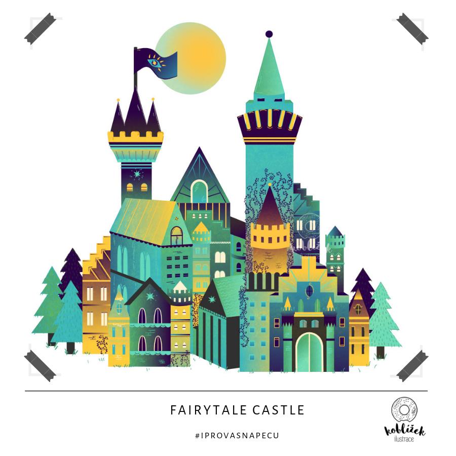 Fairytale Castle Ilustrace Zámek
