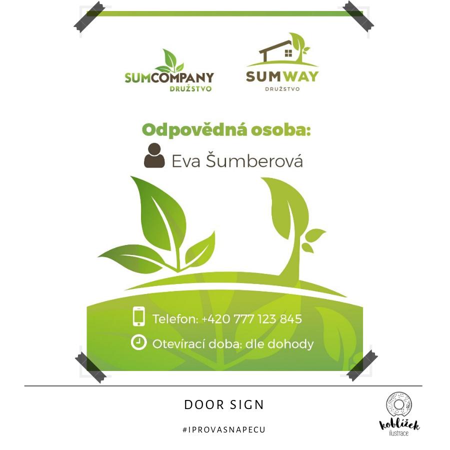 Cedule SumWay Návrh dveří