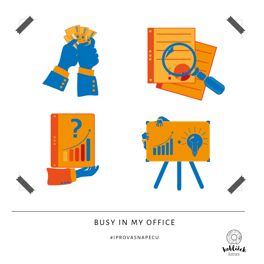 Kancelář webová ilustrace