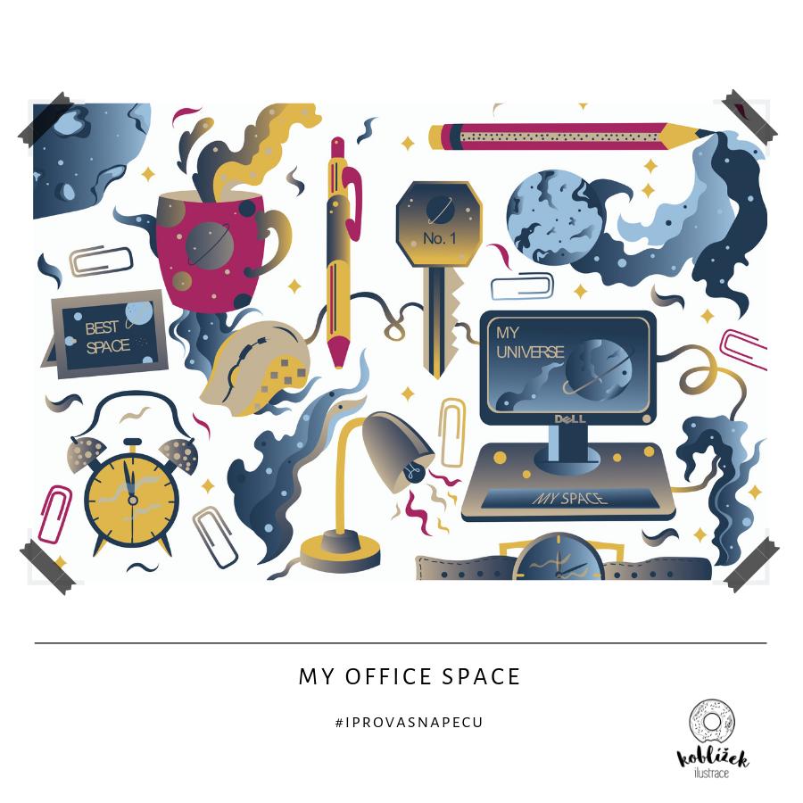 Kancelář ilustrace pattern