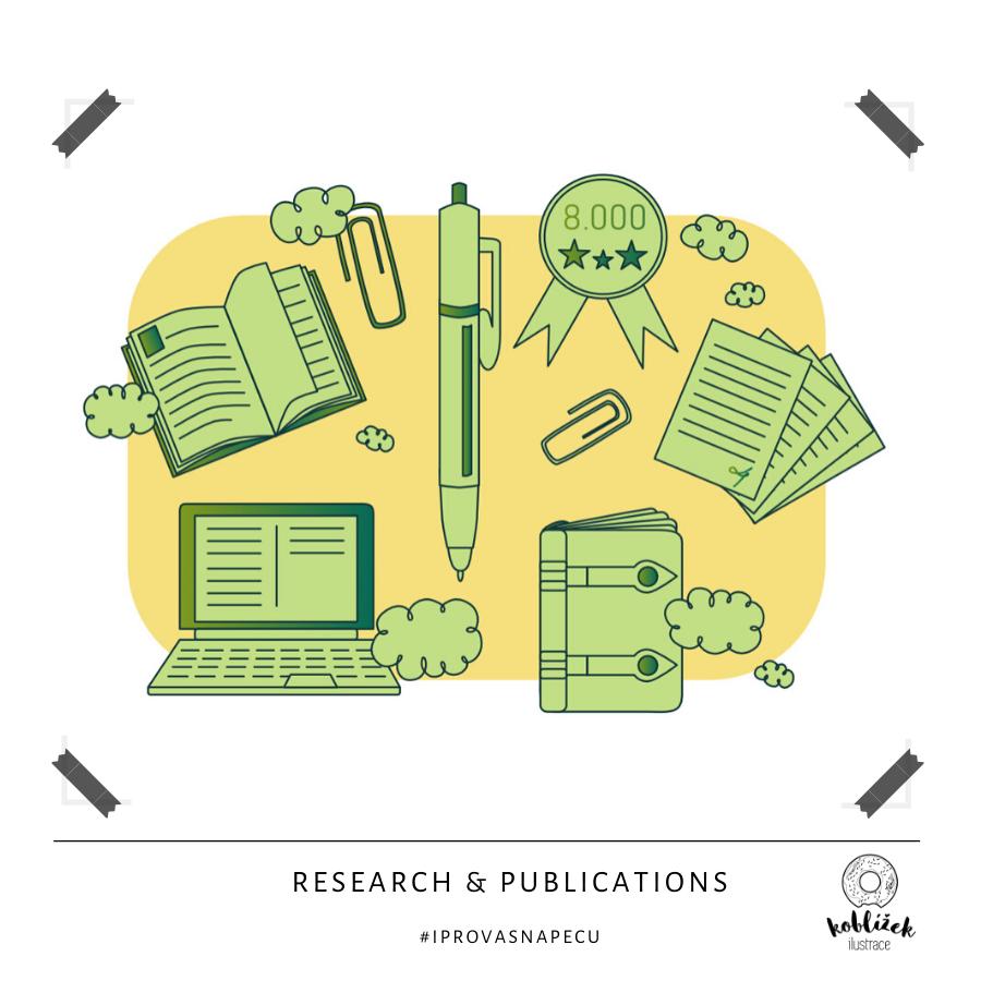 Research výzkum dokumenty ilustrace