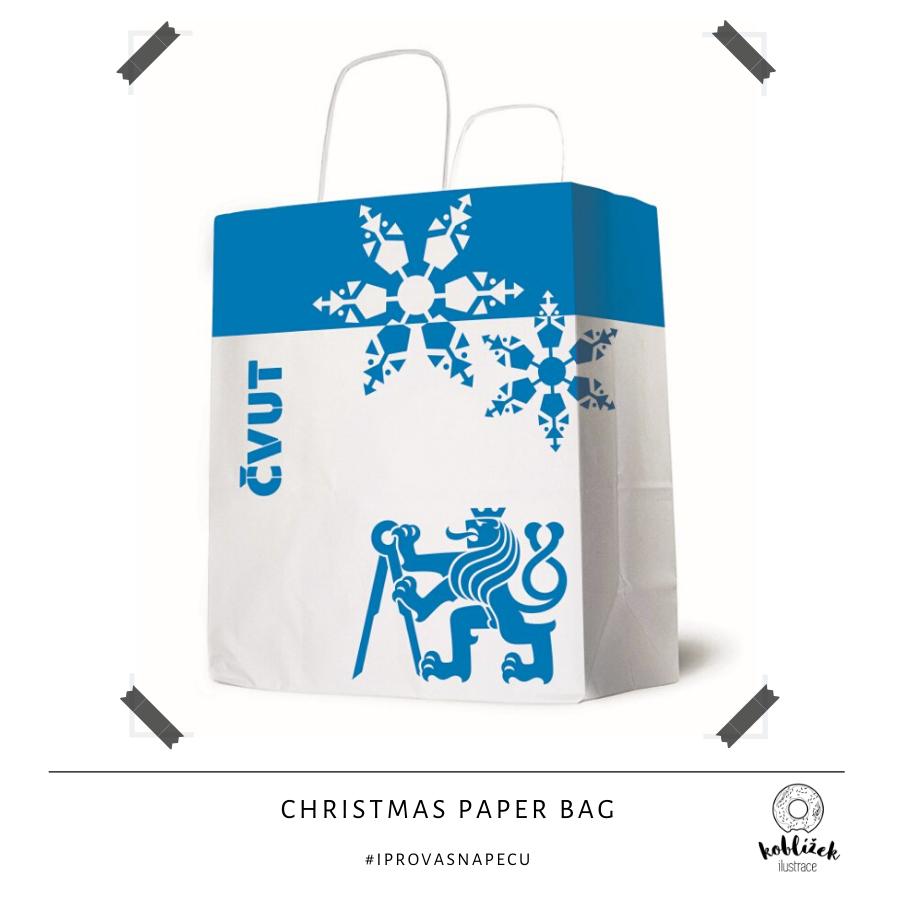 ČVUT návrh zimní dárkové tašky