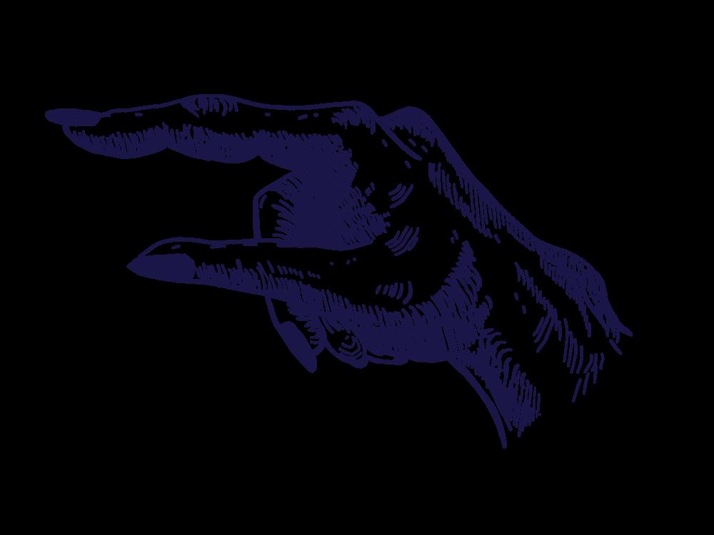 Ilustrace Ukazující prst Showing FInger