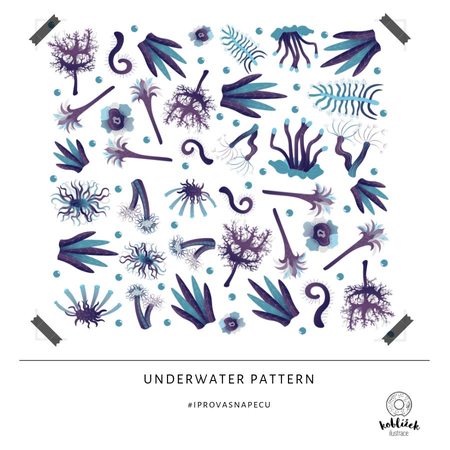 Podmořský svět ilustrace pattern